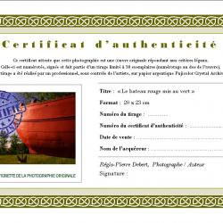 Exemple certificat d'authenticité